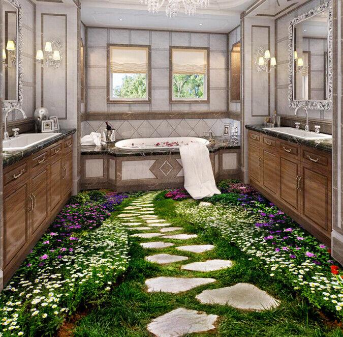 3D Jardín Sendero Piso impresión de parojo de papel pintado mural 643 5D AJ Wallpaper Reino Unido Limón