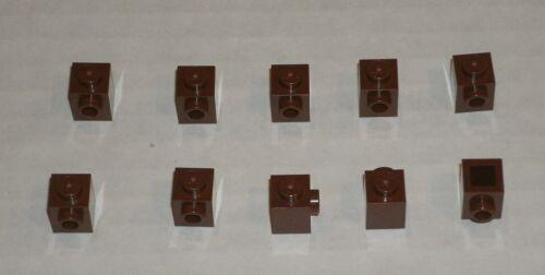 6062574 461854 Brick 87087 LEGO NEW 1x1 Reddish Brown Brick Stud on 1 Side 10x