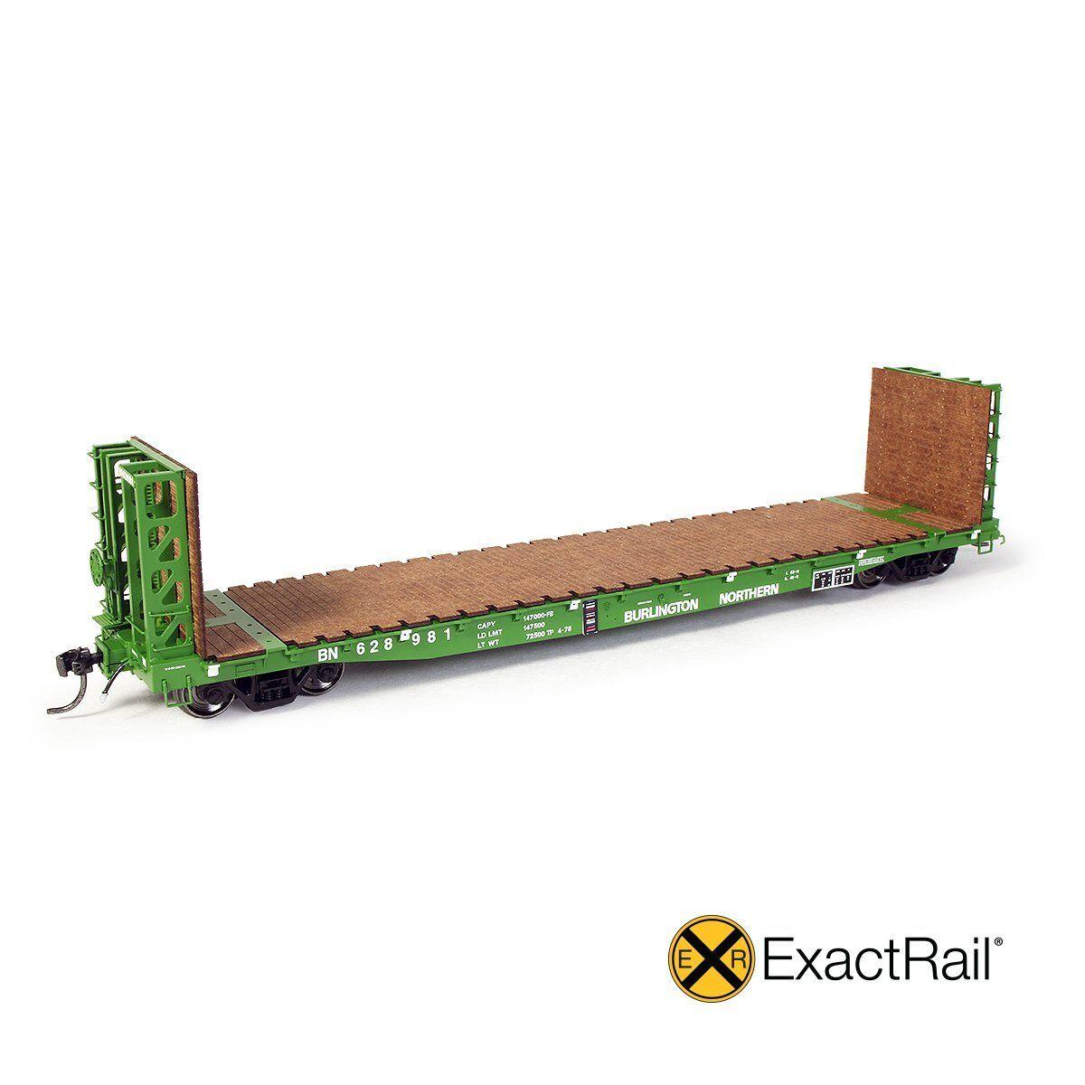 EXACTRAIL HO Burlington Northern GSI 53'-6  Bulkhead Flat BN EP-81902-12