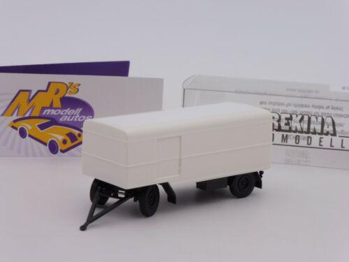 """Brekina 55292 # 2-alineación maleta remolque en blanco-negro /""""sin etiqueta/"""" 1:87 nuevo"""