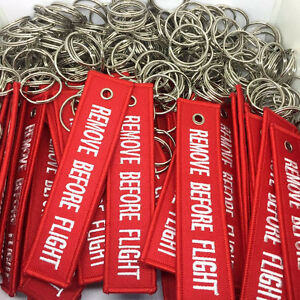 New-Fabric-Key-Ring-Remove-Before-Flight-Keychain-Pilot-Bag-Crew-Luggage-Tags