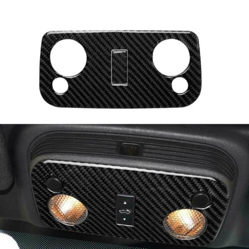 Carbon Fiber Front Reading Light Frame Trim Cover Sticker For Ford Mustang 09-13