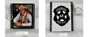 James Arness Marshal Dillon Official Gunsmoke 65th Anniversary Photo Key Chain#3