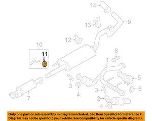 ford oem 11 14 f 150 5 0l v8 exhaust system muffler insulator rh ebay com
