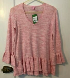 Details about Lilly Pulitzer Adela Sweater Coral Reef Tint Space Dye Pink Extra Small XS NWT
