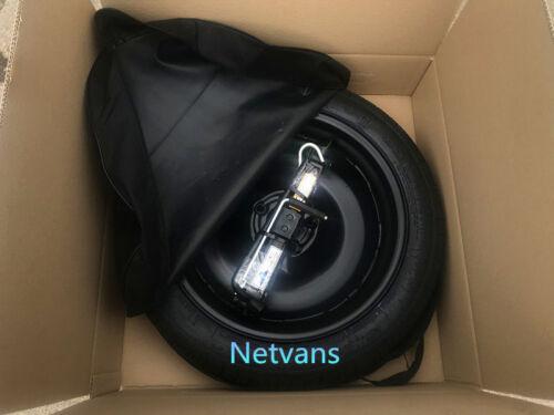 """kit rueda de repuesto galleta 17/"""" para VW SHARAN con gato llave y bolsa 64x14cm"""