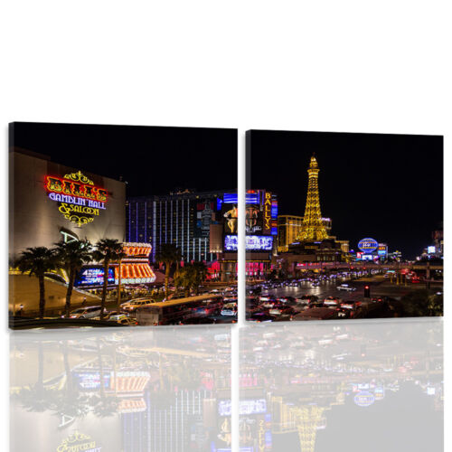 TOP LEINWAND BILD BILDER MODERN HD ART Mehrfarbig Las Vegas 1666 54 Varianten