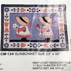 Details About Claire Murray Rug Hook Kit 23 X32 Sunbonnet Sue S Yarn Instructions Canvas