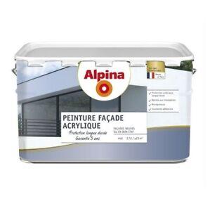 PEINTURE FACADE TON PIERRE 2.5L ACRYLIQUE MAT ALPINA haute protection 5 ans