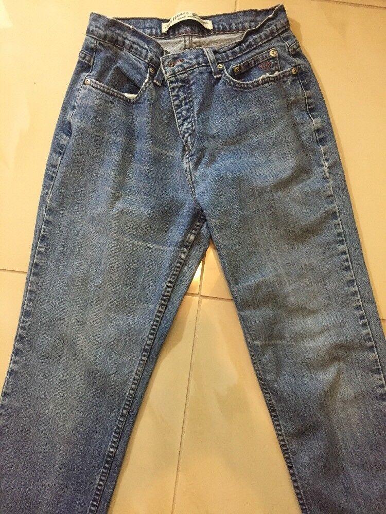 Harley Davidson GENUINE MOTOR CLOTHES Women's Denim Jeans STRAIGHT LEG Size 8 P