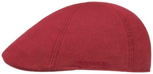 STETSON SUN GUARD ® DUCK IVY FLATCAP CAP KAPPE MÜTZE TEXAS 86 BORDEAUX COTTON