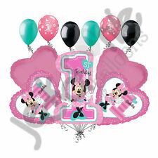 11 pc Minnie Mouse 1st Birthday Balloon Bouquet Party Decoration Pink Disney