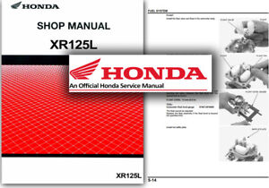 honda xr125l service workshop repair shop manual xr 125 l a 2003 rh ebay co uk honda xr125l maintenance manual honda xr 125 workshop manual