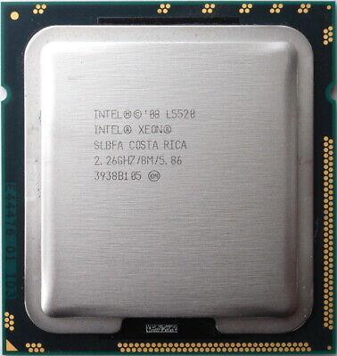1 X Intel Xeon L5520 2.26ghz Quad Core 4c/8t Lga 1366 Cpu Slbfa 60w 8mb 5.86gt/s Hohe Sicherheit