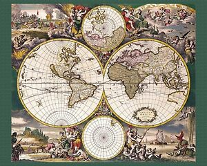 Details About 3289 Mapa Mundi Ancient Map Of World Poster Home Room Office School Art Decor