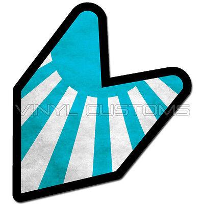 ## JDM AS FVCK WAKABA BADGE RISING SUN Car Decal Flag not vinyl sticker ##