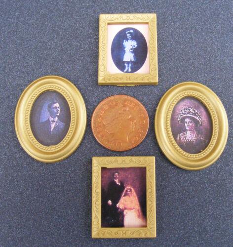 1:12 SCALA 4 foto stampe in fotogrammi tumdee casa delle bambole Accessorio dipinto