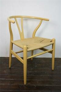vintage hans wegner wishbone y chair beech no 360. Black Bedroom Furniture Sets. Home Design Ideas