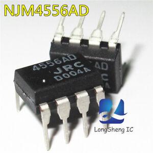 10-Pcs-NJM4556AD-DIP-8-Dual-Amplificador-Operacional-Alta-Nuevo