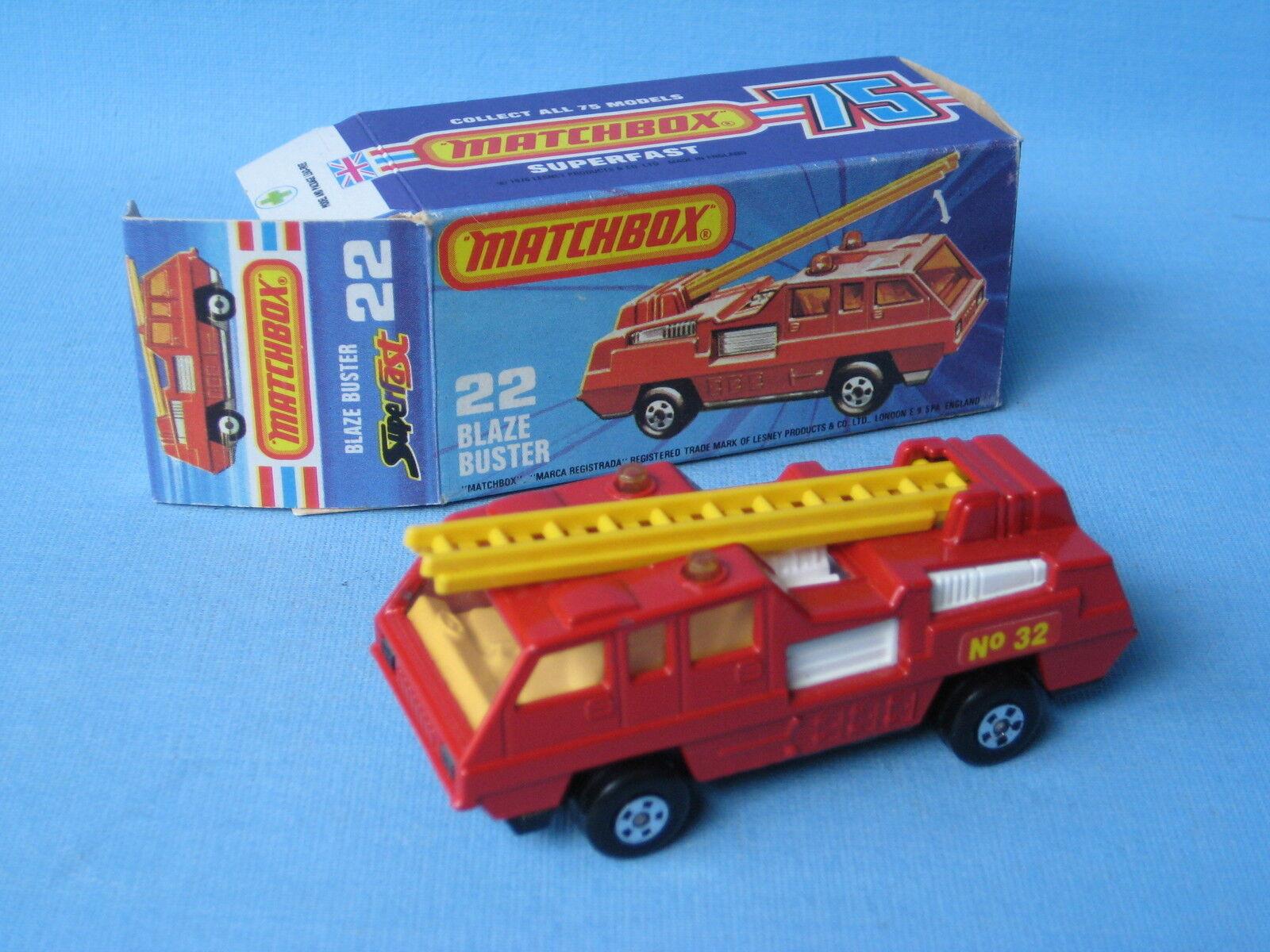 estar en gran demanda Lesney Matchbox súperfast 22 Blaze Buster bomberos Nº 32 32 32 Etiquetas En Caja  ordenar ahora