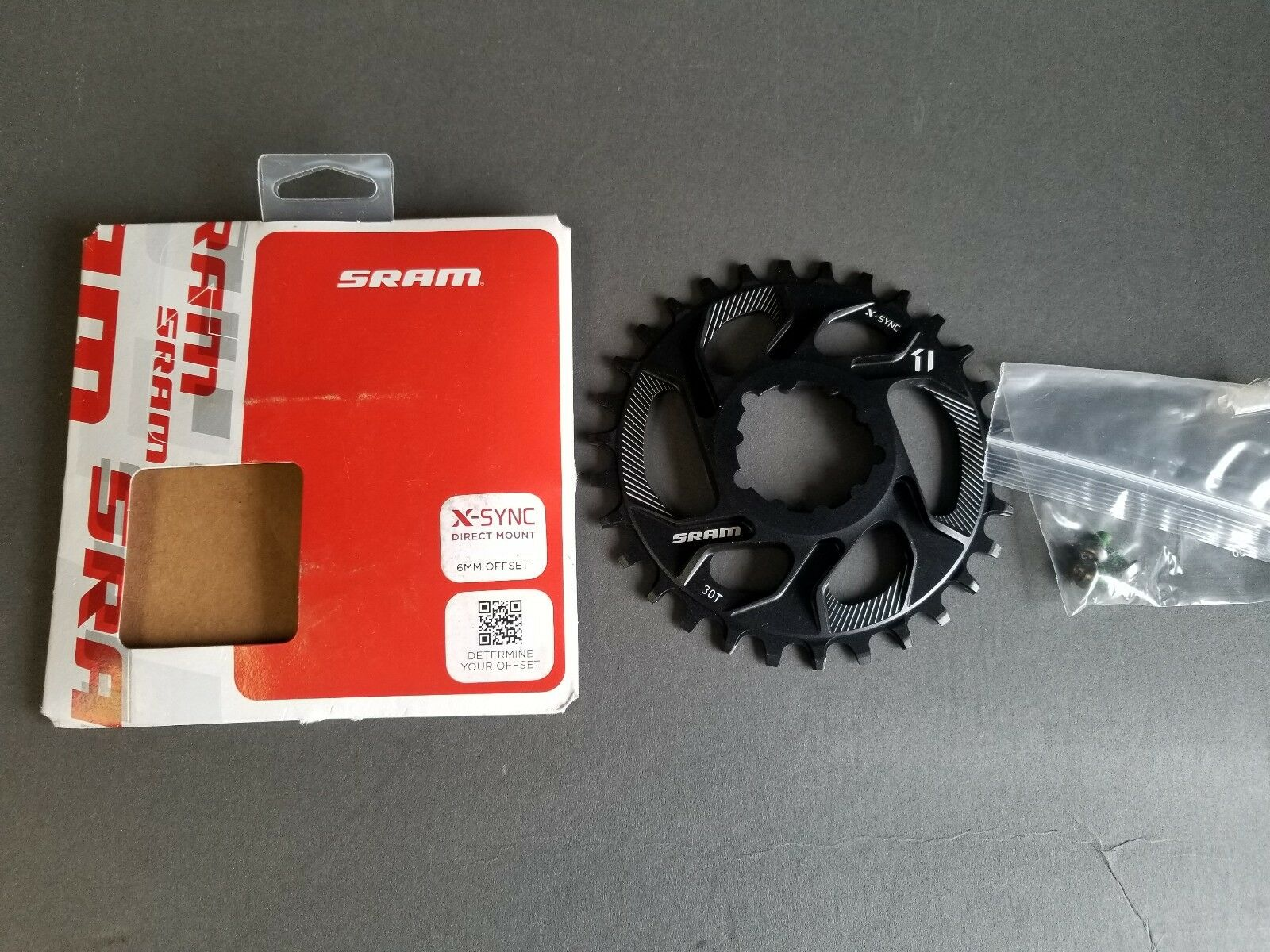 Brand Brand Brand NEW SRAM X-Sync Direct Mount 30T Chainring 6mm Offset W Hardware 11 Speed d23def