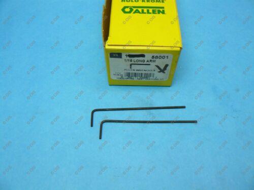 Holo Krome 58001 Long Arm 1//16 Inch L Hex Key Allen Wrench Alloy Steel QTY 2