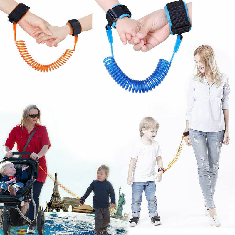 2.5m Kid Anti Lost Safe Leash Wrist Link Harness Strap Reins Traction Rope Cord