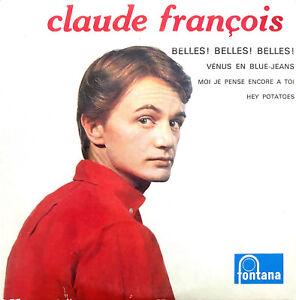 Claude-Francois-CD-Single-Belles-Belles-Belles-Vinyl-Replica-France