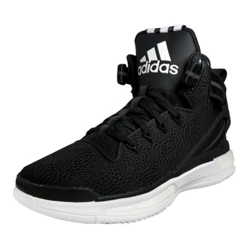 Adidas D Rose 6 Boost Mens Basketball Shoes Fitness Gym Court Trainers Black