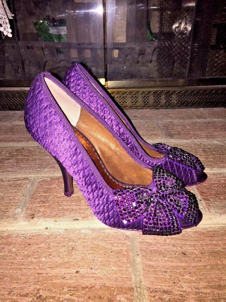 POETIC LICENCE Irregular Choice Damenschuhe Purple Sparkle HIGH HEELS Schuhe Sz 5.5 6