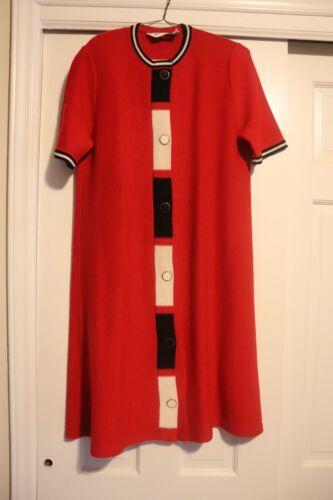Vintage Danielle Oliver Knit Dress Black & Red wit
