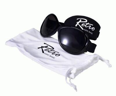 Baby Banz Retro Occhiali Da Sole 0-2 Anni Nero 100% Uva Uvb Protezione Solare Nuovo-mostra Il Titolo Originale