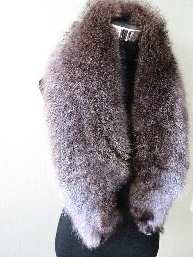 100% real American raccoon fur collar / wrap / scarf ja