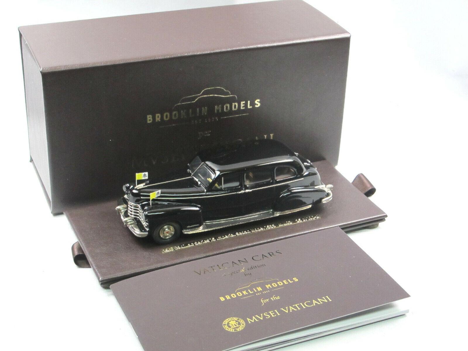 garanzia di qualità BROOKLIN per musei Vaticani 1947 Cadillac Cadillac Cadillac Series 75 Imperial Sedan  7533 1 43  autorizzazione ufficiale