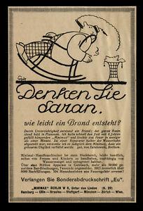 Alte-Werbung-Rekalme-1918-Minimax-2-Feuerloescher-Denken-Sie-daran
