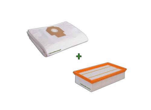 1 x Filter für Kärcher NT 611 Staubbeutel Beutel 5 Vlies Staubsaugerbeutel