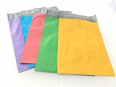 100- 5 Colors 10x13 and 6x9 50 each Flat Poly Mailers Shipping Color Self Seal