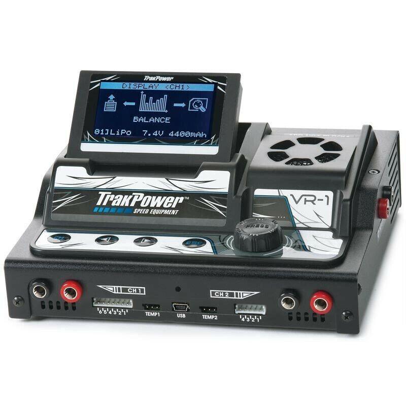 TrakPower VR1 DC cargador de carreras de doble canal con BAL tkpp 5000