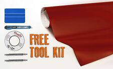 35ft x 5ft matte vinyl wrap blood red now comes with free car-wrap kit VVIVID8