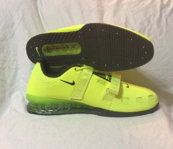 NIKE ROMALEOS 2 MENS WEIGHTLIFTING SHOES VOLT BLACK SIZE 17 476927-700
