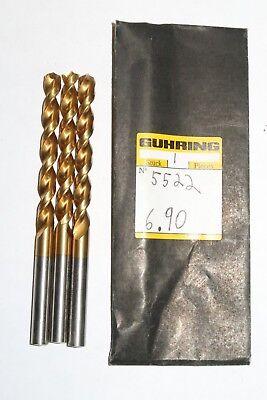 """5 new TWILL 9//32/"""" Jobber Length Twist Drills HSCo Cobalt 135 Degree Split Point"""