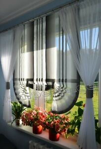 Details zu Moderne Gardinen Wohnzimmer Fensterdekoration Grau Fenster 120  -180 Nr. 550