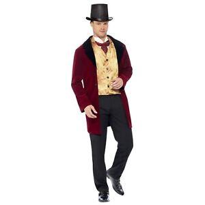 Adulto-Uomo-Deluxe-VECCHIO-Periodo-edoardiano-GENTILUOMO-Medievale-Vittoriano-Costume-Tuta
