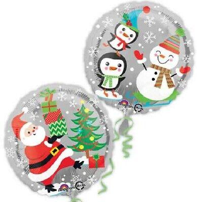 Large Santa Claus Aluminum Foil Balloon Christmas Party Decoration Merry Xmas QH