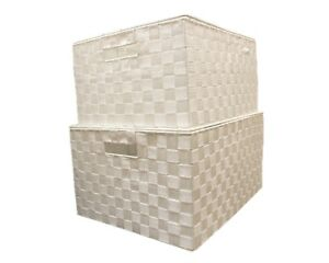 Image Is Loading Nylon Woven Hamper Basket Storage Chest Trunk Kids