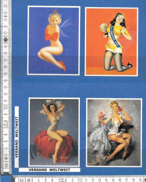 4 Pin-up-bilder * * Erotik / Akt – Vintage * 77-80