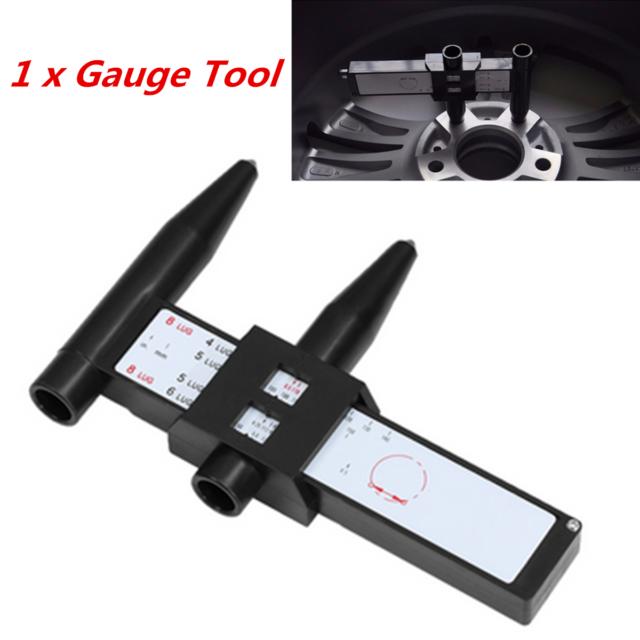 PCD Gauge Ruler Rim Car Wheel Bolt Pattern Measuring Gauge Tool Hole Amazing Wheel Bolt Pattern Tool