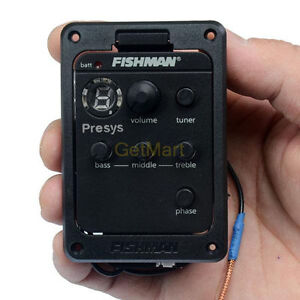 New Fishman Presys 101 Onboard Preamps Guitar EQ Tuner Piezo Pickup Equalizer
