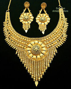 Designer-Party-Wear-Fashion-Jewellery-Bollywood-Gold-Plated-Necklace-Earring-set