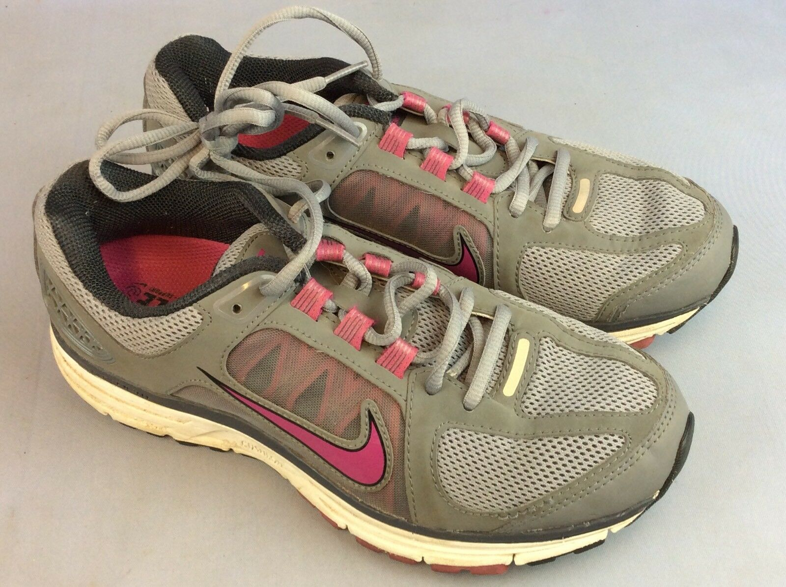 Nike Vomero 7 Woman's Trainers Grey And Pink UK 5.5 Ship Worldwide
